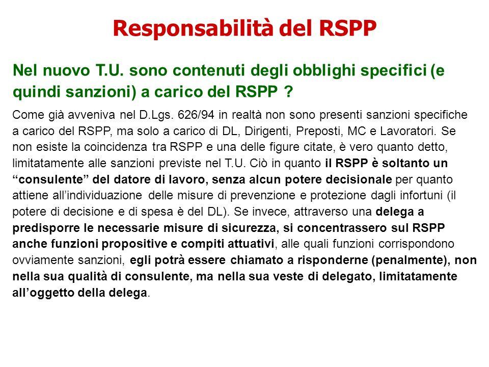 Responsabilità del RSPP