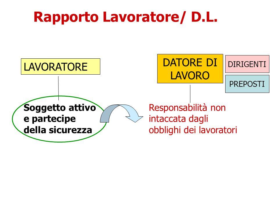 Rapporto Lavoratore/ D.L.
