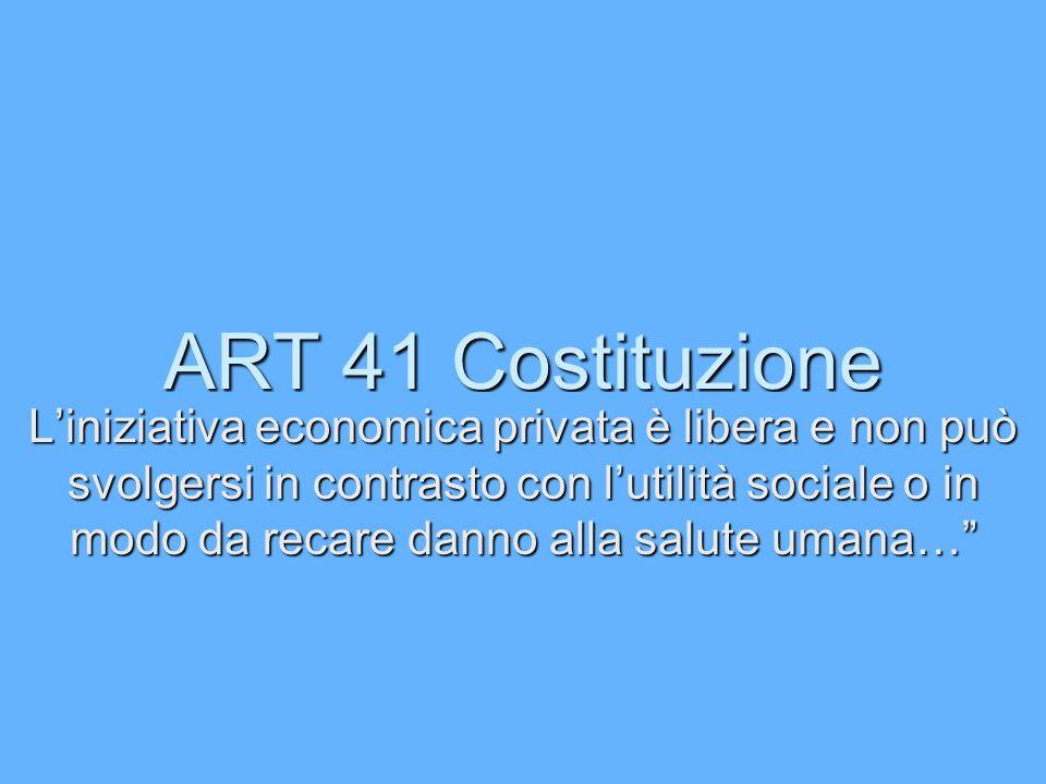 ART 41 Costituzione
