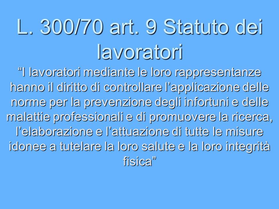 L. 300/70 art. 9 Statuto dei lavoratori