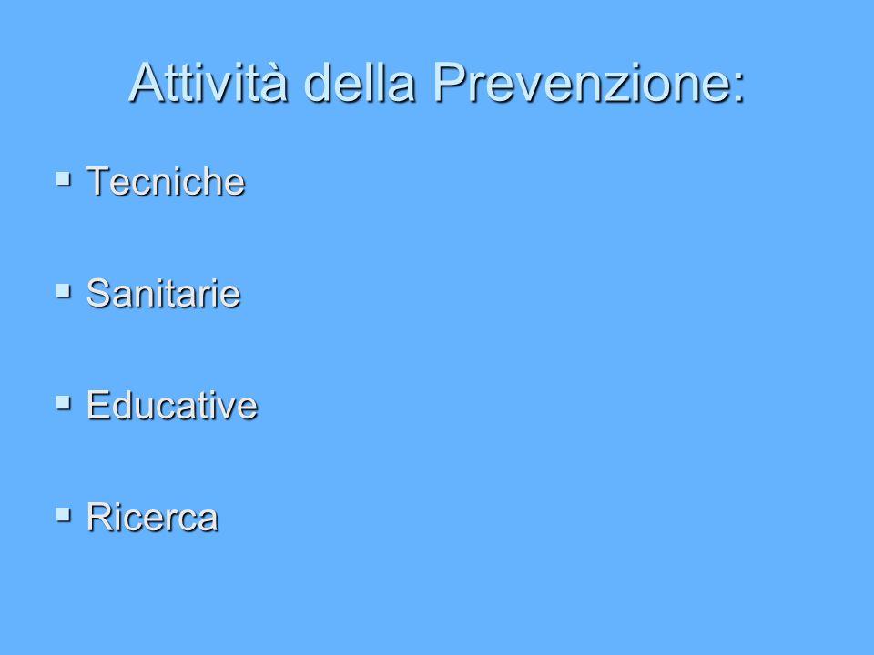 Attività della Prevenzione: