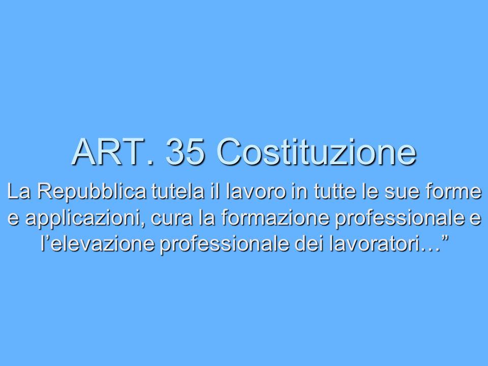ART. 35 Costituzione