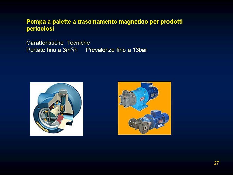 Pompa a palette a trascinamento magnetico per prodotti pericolosi