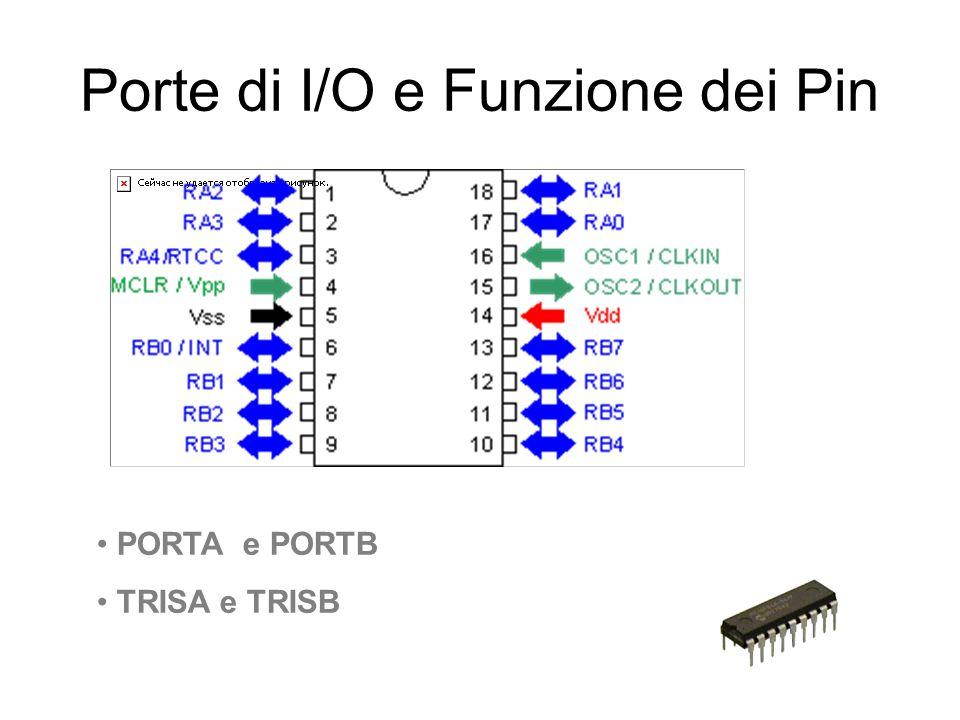 Porte di I/O e Funzione dei Pin