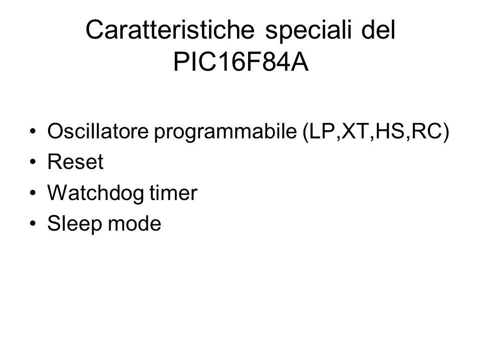 Caratteristiche speciali del PIC16F84A