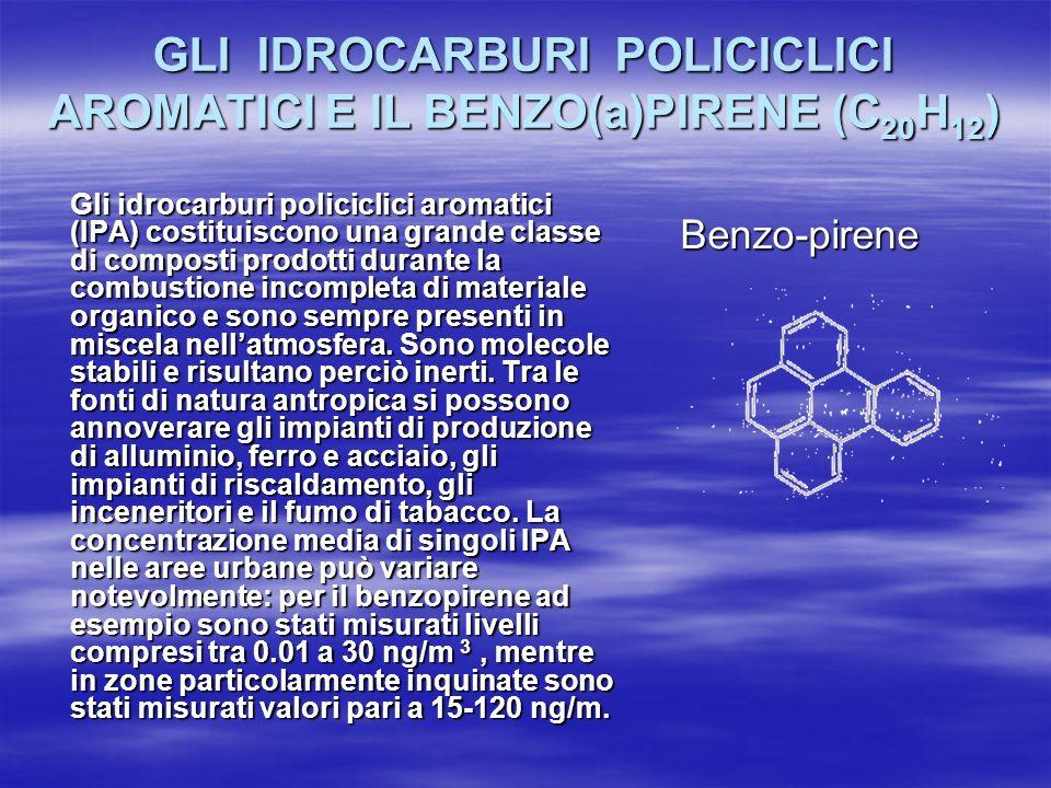 GLI IDROCARBURI POLICICLICI AROMATICI E IL BENZO(a)PIRENE (C20H12)