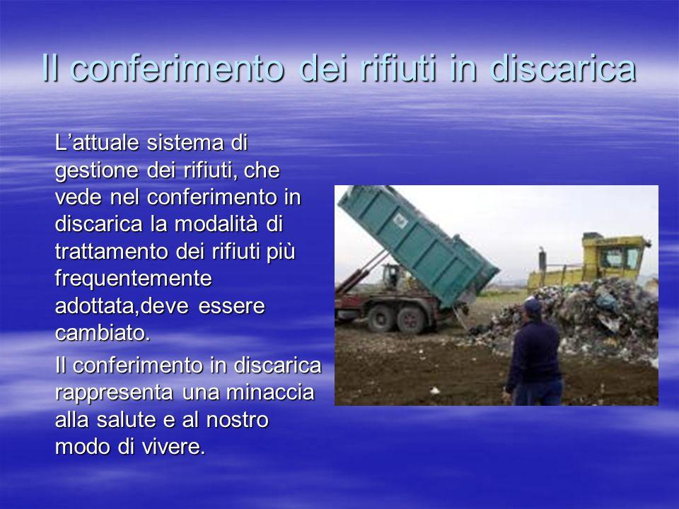 Il conferimento dei rifiuti in discarica
