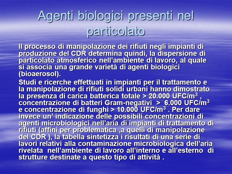 Agenti biologici presenti nel particolato