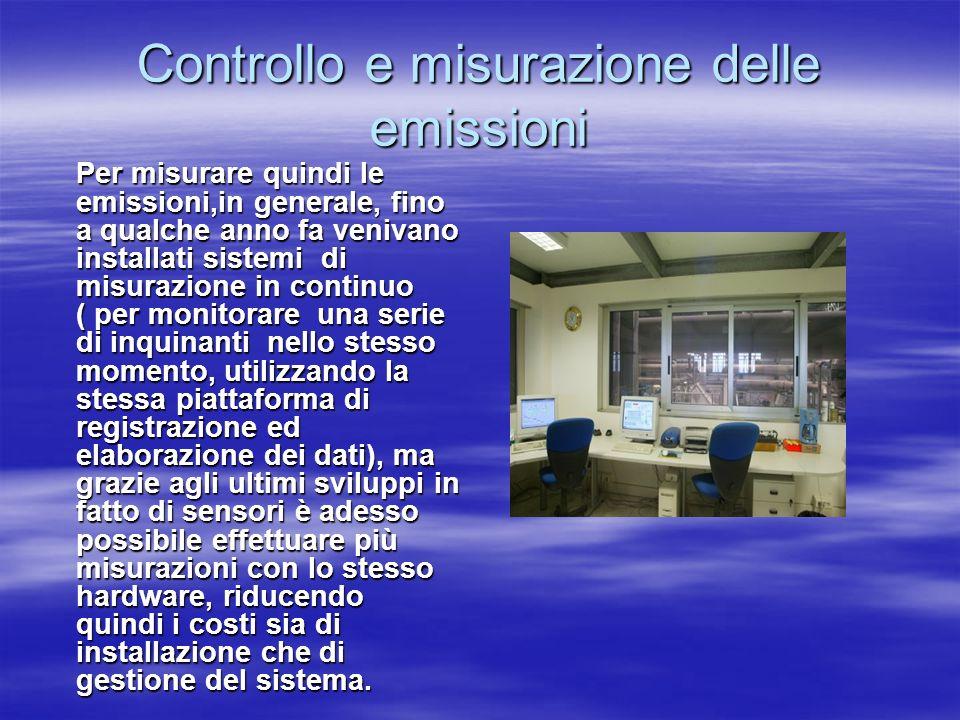 Controllo e misurazione delle emissioni
