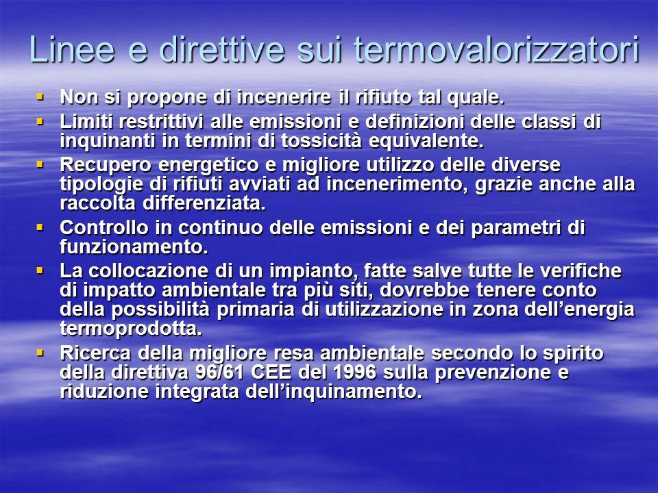 Linee e direttive sui termovalorizzatori