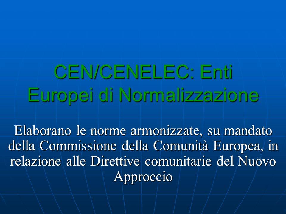 CEN/CENELEC: Enti Europei di Normalizzazione