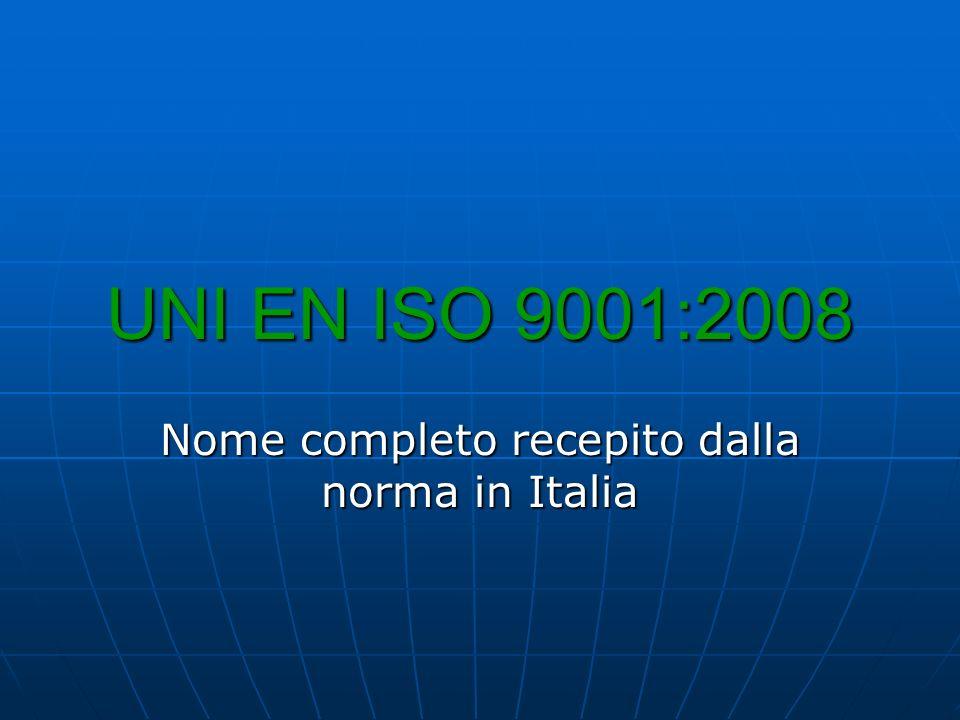 Nome completo recepito dalla norma in Italia