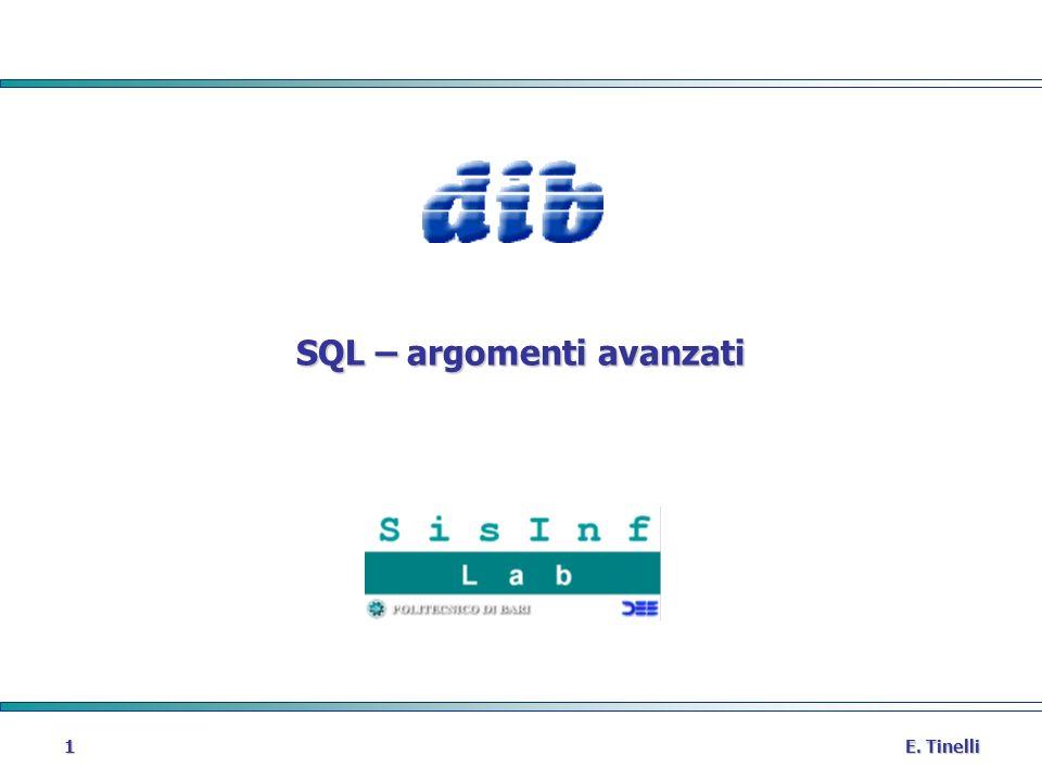 SQL – argomenti avanzati