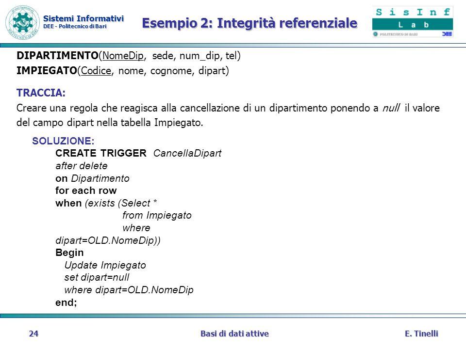 Esempio 2: Integrità referenziale