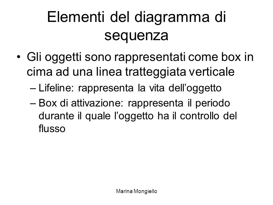 Elementi del diagramma di sequenza