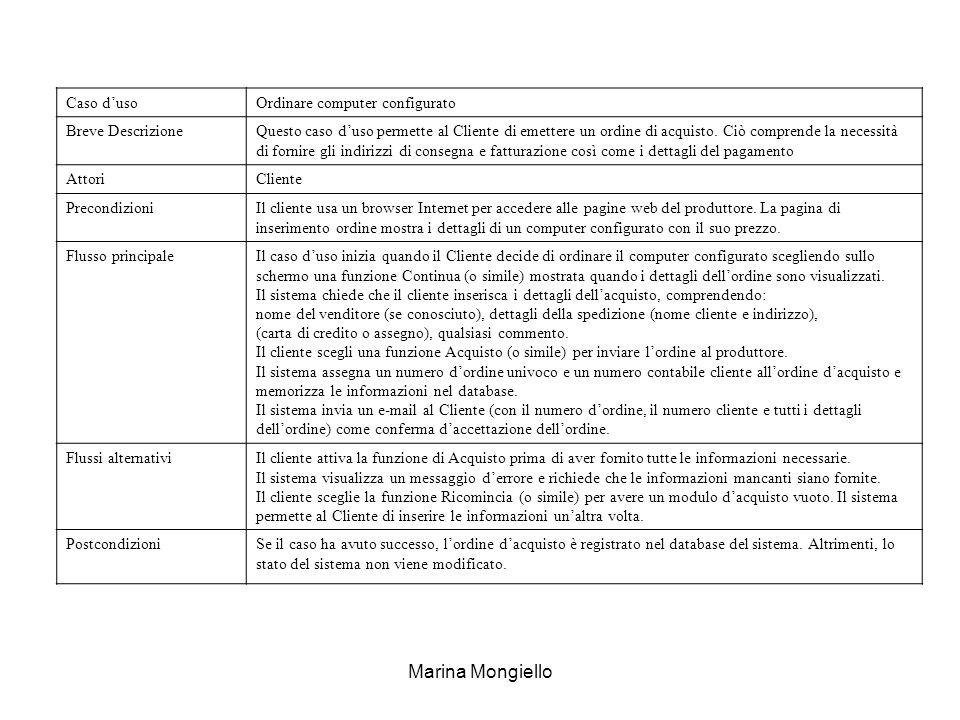 Marina Mongiello Caso d'uso Ordinare computer configurato