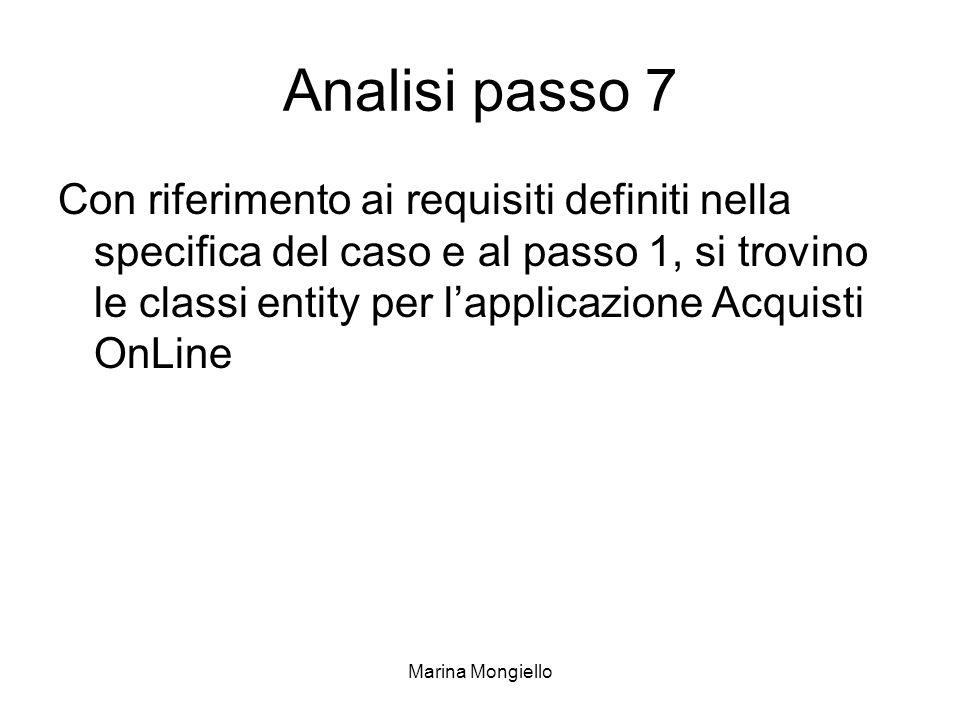 Analisi passo 7