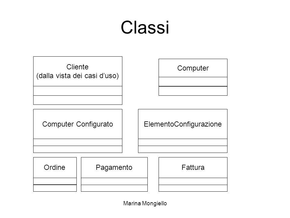 Classi Cliente (dalla vista dei casi d'uso) Computer