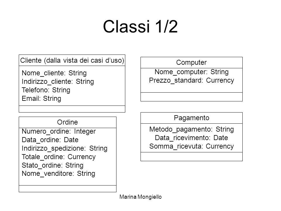 Classi 1/2 Cliente (dalla vista dei casi d'uso) Computer
