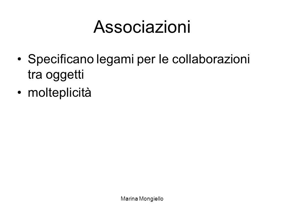 Associazioni Specificano legami per le collaborazioni tra oggetti