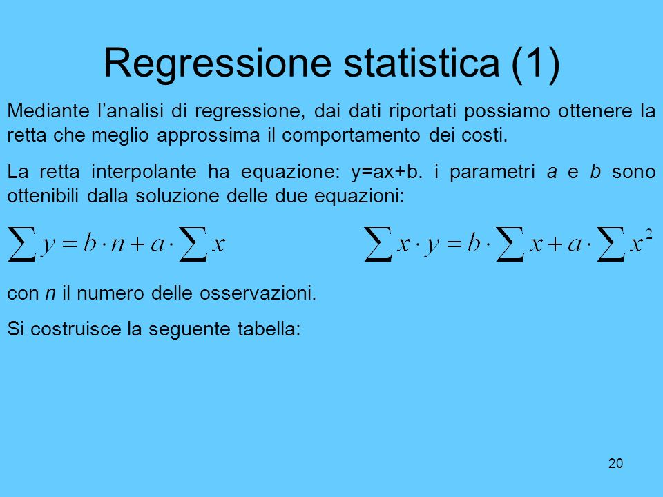 Regressione statistica (1)