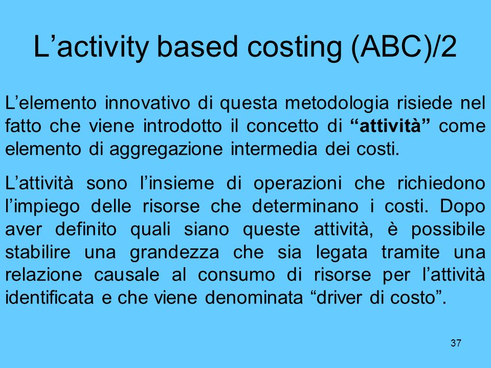 L'activity based costing (ABC)/2
