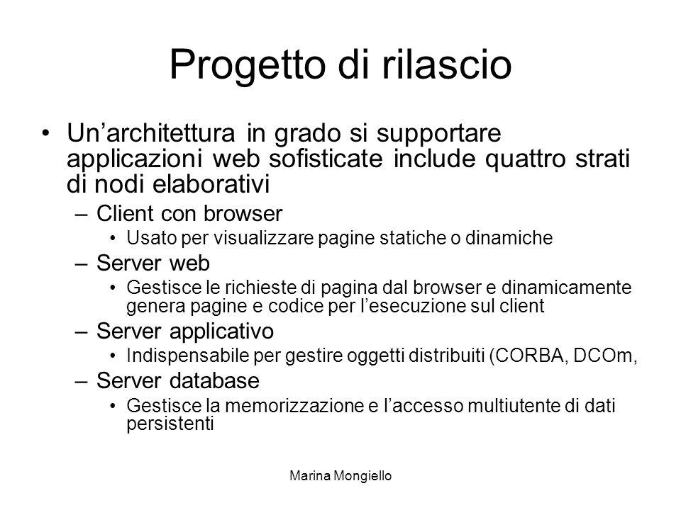 Progetto di rilascio Un'architettura in grado si supportare applicazioni web sofisticate include quattro strati di nodi elaborativi.