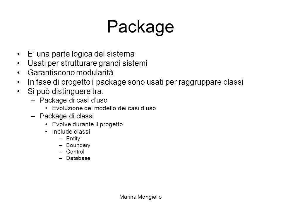 Package E' una parte logica del sistema