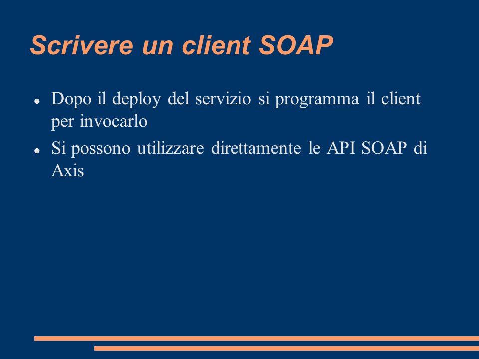 Scrivere un client SOAP