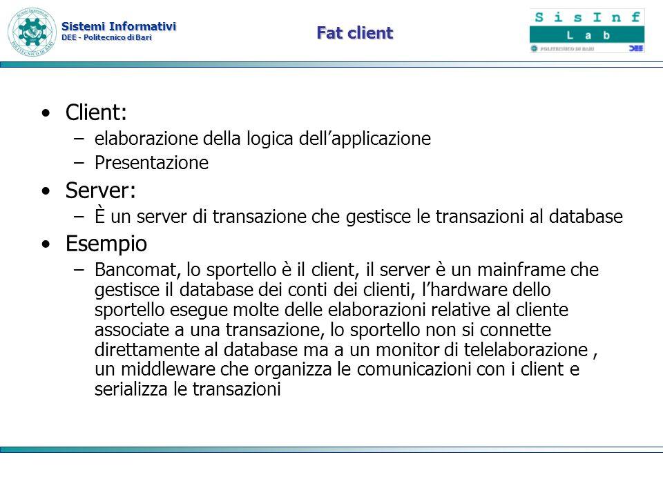 Client: Server: Esempio elaborazione della logica dell'applicazione