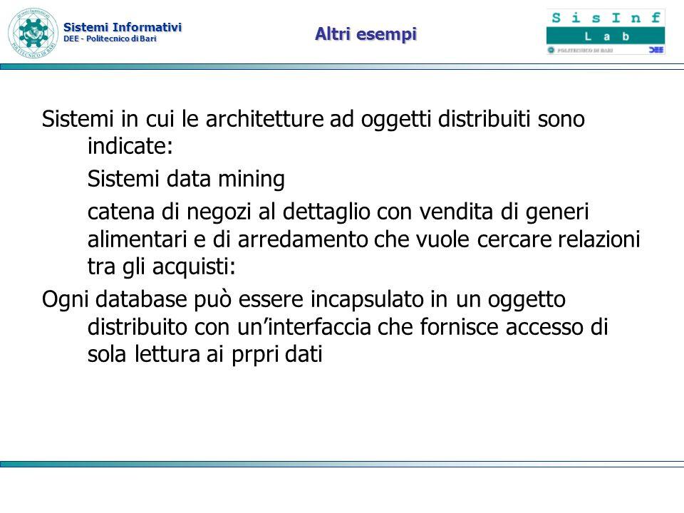 Sistemi in cui le architetture ad oggetti distribuiti sono indicate: