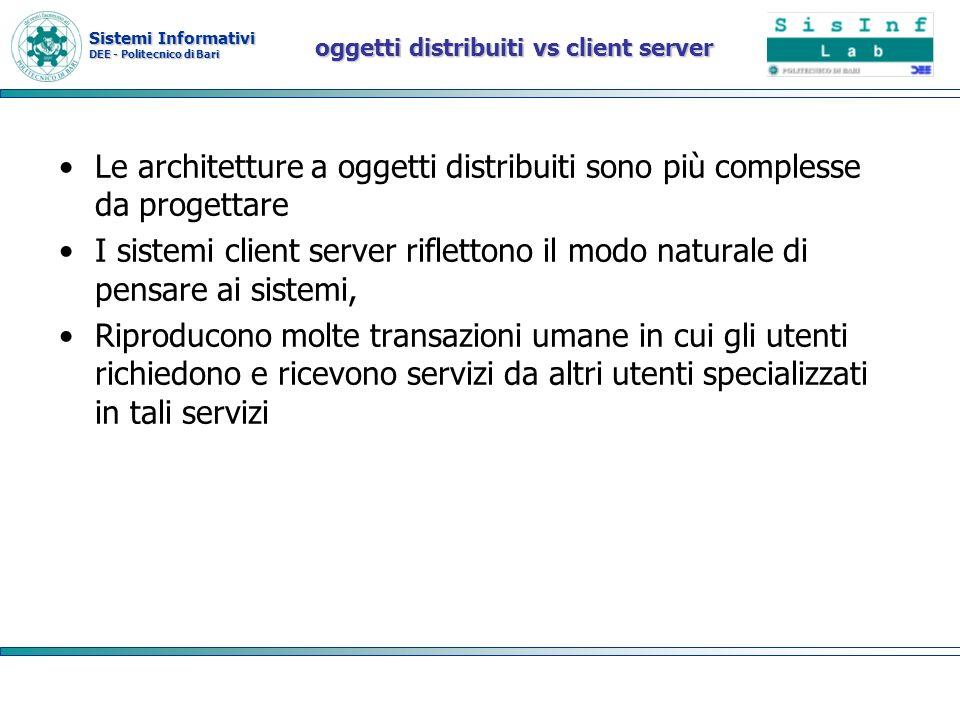 oggetti distribuiti vs client server