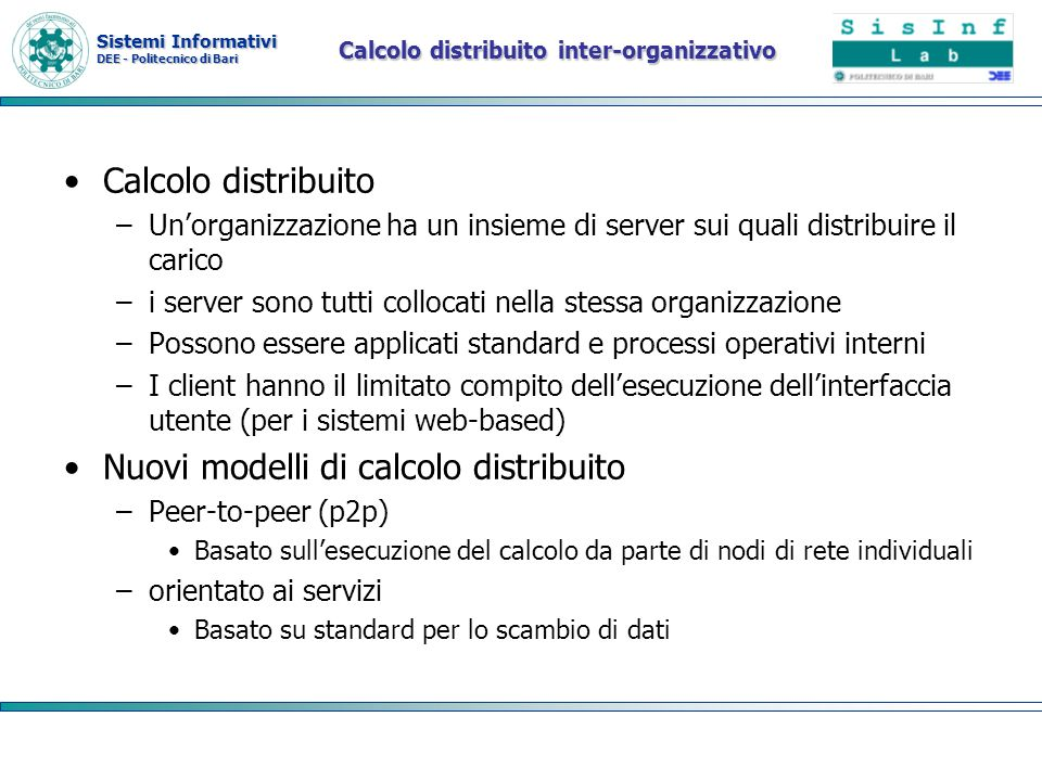 Calcolo distribuito inter-organizzativo