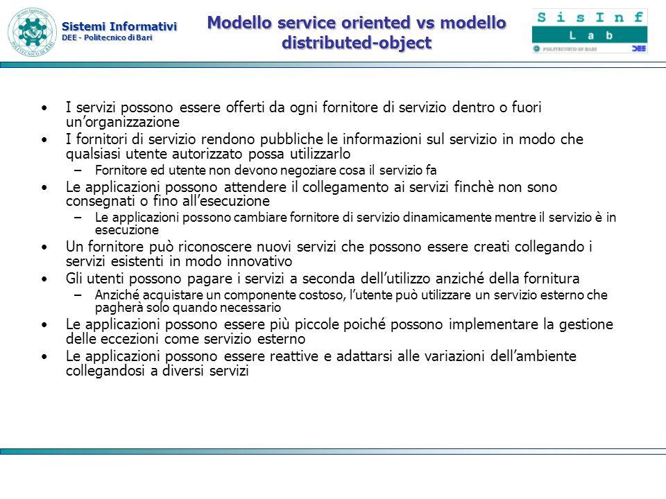 Modello service oriented vs modello distributed-object