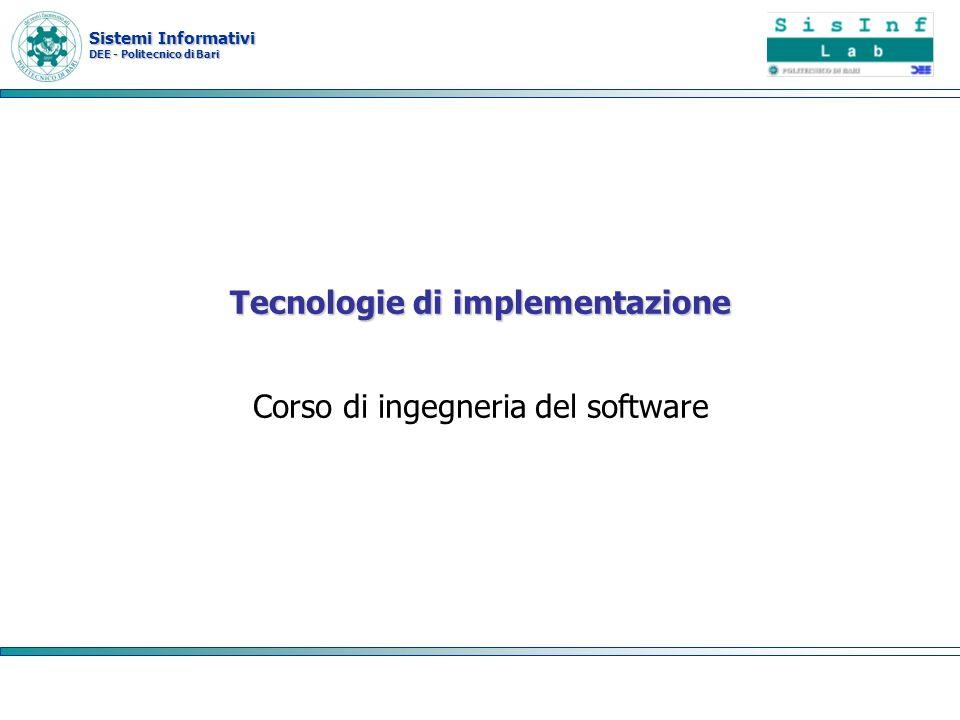 Tecnologie di implementazione