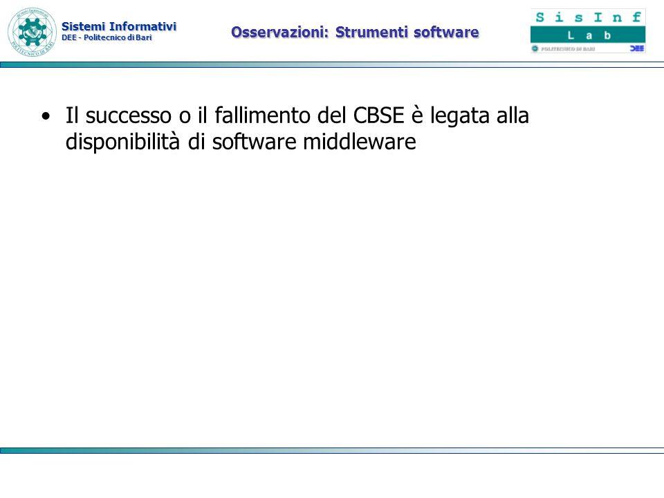 Osservazioni: Strumenti software
