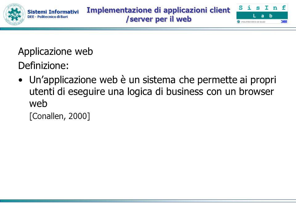 Implementazione di applicazioni client /server per il web
