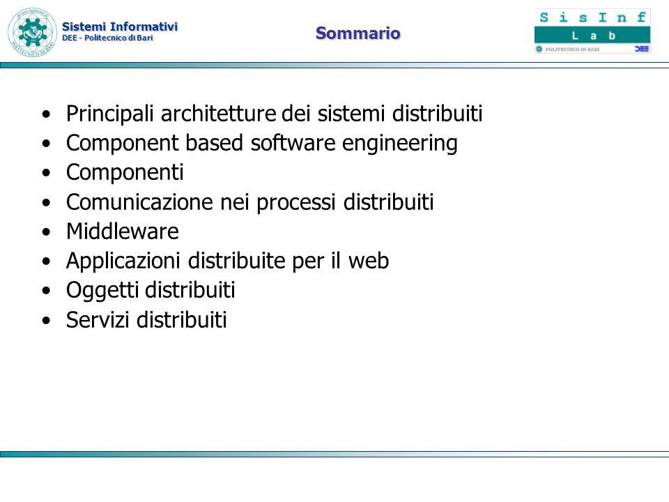 Principali architetture dei sistemi distribuiti