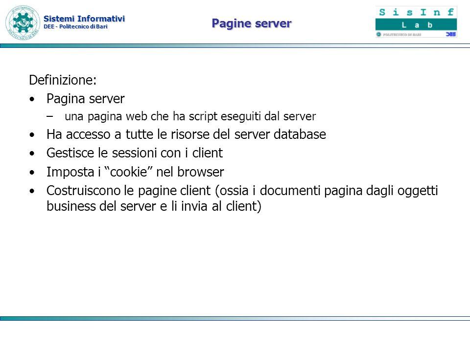 Ha accesso a tutte le risorse del server database
