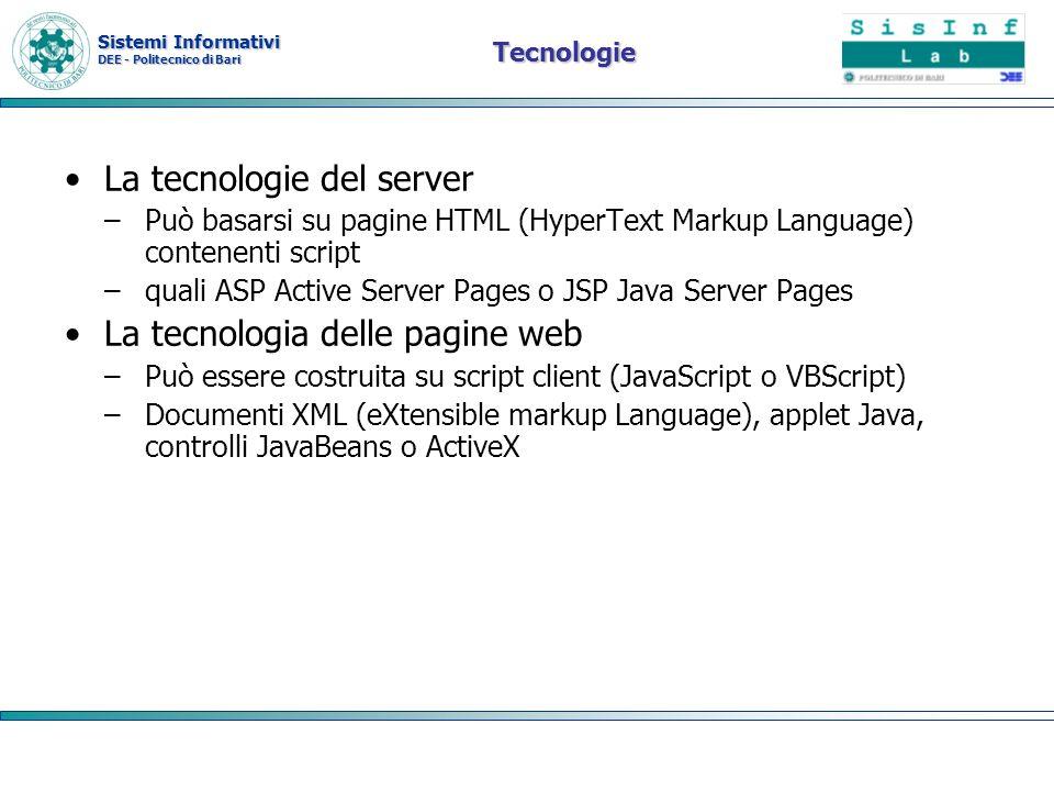 La tecnologie del server