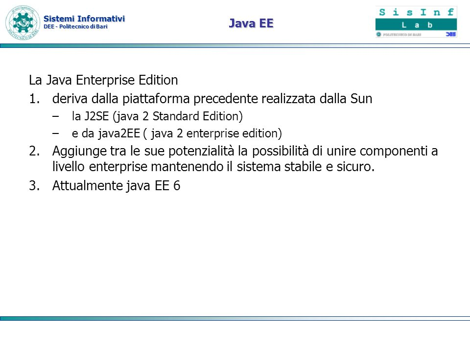 La Java Enterprise Edition