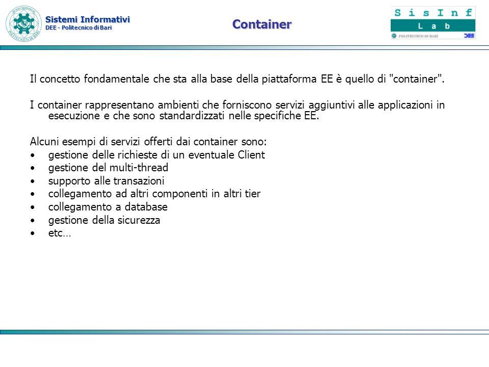 Container Il concetto fondamentale che sta alla base della piattaforma EE è quello di container .