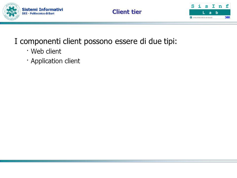 I componenti client possono essere di due tipi: