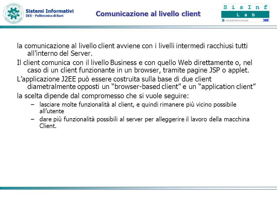 Comunicazione al livello client