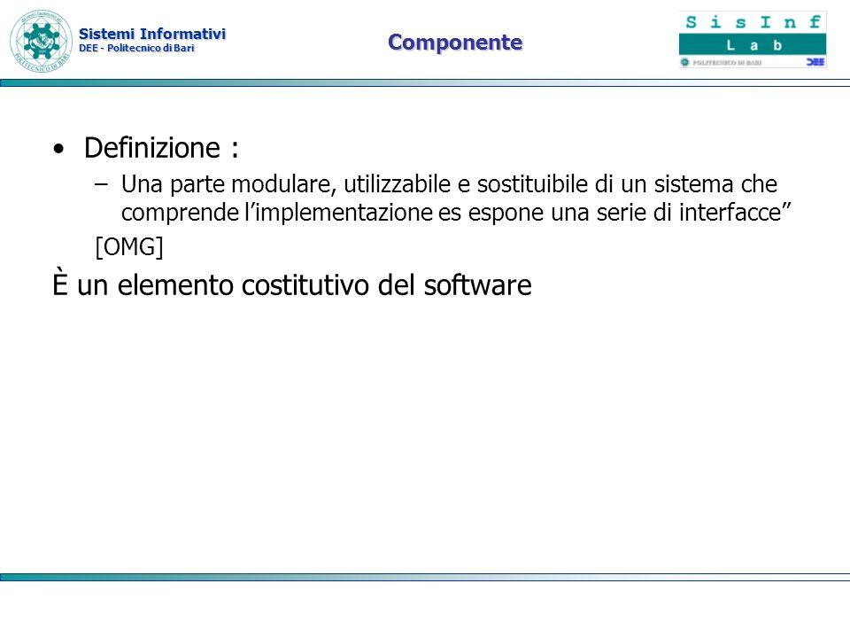 È un elemento costitutivo del software