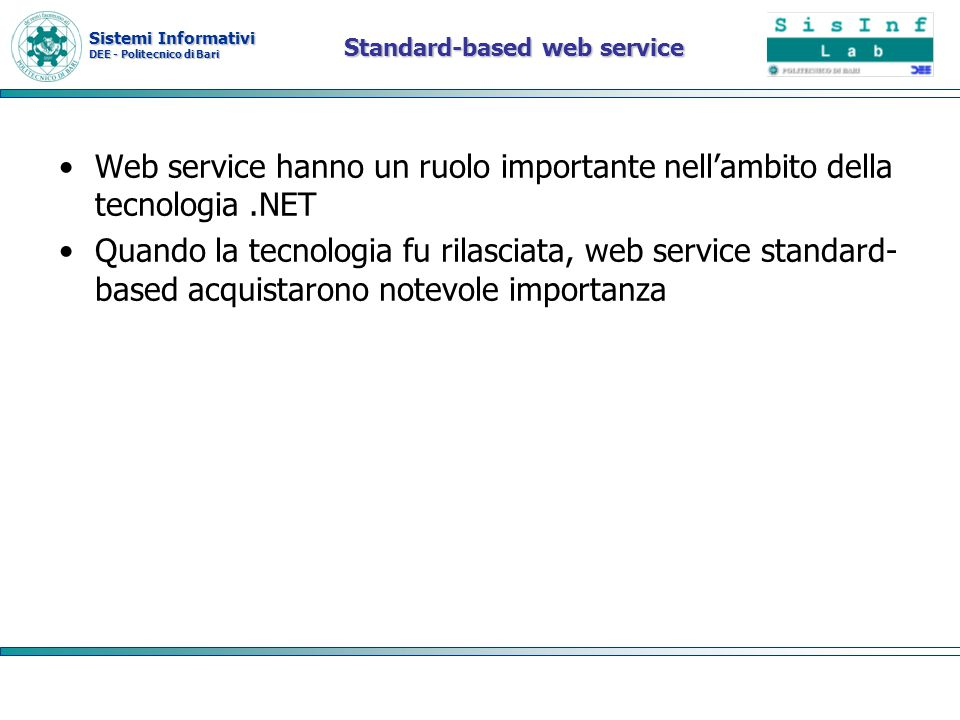 Standard-based web service