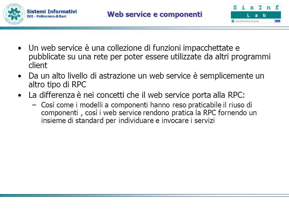 Web service e componenti