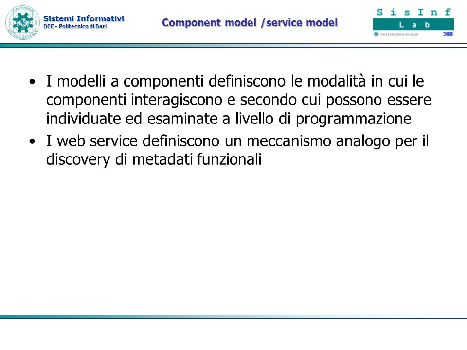 Component model /service model