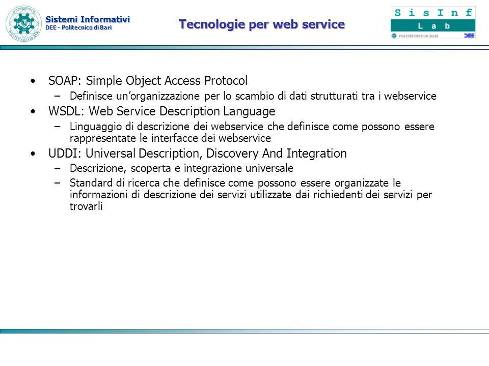 Tecnologie per web service