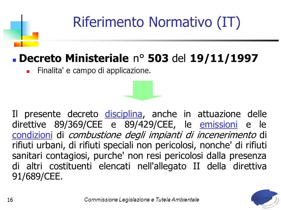 Riferimento Normativo (IT)